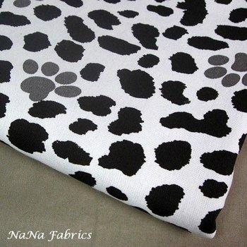 Free Shipping! 100% Cotton Cow Print Fabric, Cotton Canvas Dog Print Fabric - 150cm * 100cm