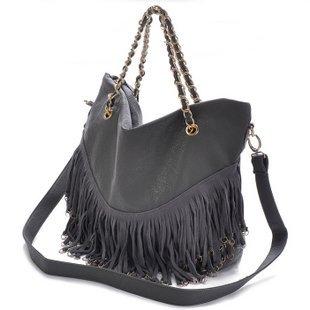 The new girl heaven 2011 large capacity tassel cowhide chain XuZi single inclined shoulder bag across the female