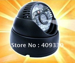 New digital video recorder / sound recording / 24 LED IR Night Vision Indoor Dome Color CCTV Camera free shipping(China (Mainland))