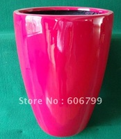 "wholesale 15"" FiberGlass Planter/red blow  planter/ (6pcs/ctn)/wood color planter"