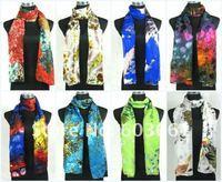 Free shipping! Lots of 10 100% Silk chiffon Scarf Wrap shawl Sari scarves