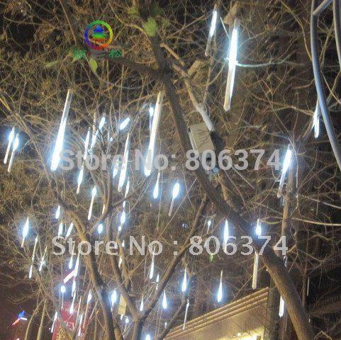 2M 8 X Column (12 Led each Column 20CM longth ) String LED Meteor Rain Light white(China (Mainland))