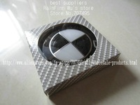 free shipping 1pcs Car Badge Emblem Hood Trunk 82mm 2 Pins color black & white factory supply