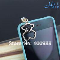 IP031 10pcs/Lot cute bear dust plug