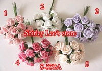 Wholesale--120 BUNCHES=1440pcs X Mini Foam Rose Bunch  In 5 Different Colors,CRAFTS Wedding Decoration  * FREE SHIPPING BY EMS