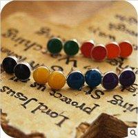 Fashion Jewellery Sainbow Small Earrings C24R11C Free Shipping