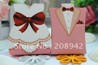 Best selling! EMS Free shipping! 100 pcs/lot Christmas box ,wedding dress candy box-pink . Retail/wholesale
