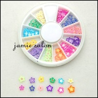 Polymer Clay Slices Nail Art Decoration Decals Cartoon Star Like Design Free shipping #z21