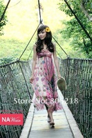 Free Shipping # 018 Korean Summer Chiffon Women Dress Sexy Women's Dresses,Cheap Dress