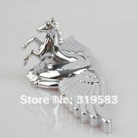 Pegasus LOGO + Wing Zinc Alloy Metal Car Auto Front Emblems Hood Bonnet