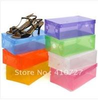 Transparent the shoebox flip shoebox plastic shoebox Slipper Box free shipping
