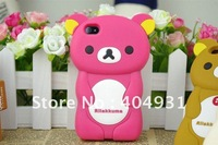 3D Rilakkuma Silicone cases for iphone 4S