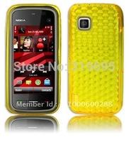 Diamond YELLOW Armor Hydro Gel Silicone Case Skin Cover Protector For Nokia 5230