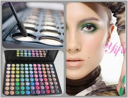 Free Shipping best 88 Full Color Professional Shimmer Matte apply Eyeshadow Palette Makeup Eye Shadow Palette Set Kit P88(China (Mainland))