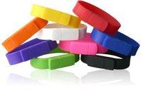 Freeshipping  4GB/8GB/16GB/32GB/64GB OEM usb stick print  LOGO on wristband usb flash drive