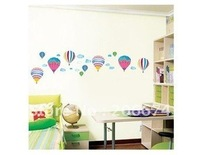 Cute Hot Air Balloon Wall Decal Sticker.Stickers.wall stick.free shipping