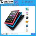 "Free Shipping 3.6"" Touch Screen Dual SIM dual band N9 7 system Mobile Phone With Russian and Polish Menu"