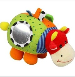 Baby Toy Plush Toy Stuffed Animals Baby Rattles Mobiles Bed Bell Music Free Shipping(China (Mainland))