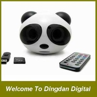 Free shipping speaker portable speaker panda speaker with romote control / FM function Support SD Card/U disk , D119