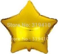 10 inch 25cm foil star balloon metallic balloons decorations gold