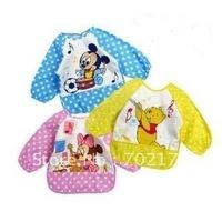 Freeshipping Hotsale,Wholesale,Good quality,Babies Cotton Bibs/Feeding/Baby Smock/ Kids overclothes/Waterproof Vesture