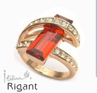 NNew Wholesale Hot Fashion Jewelry Genuine red Zircon woman's ring Diamand Rings size:6,7,8,9,10,11,12