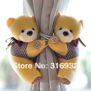 C2 New arrival, Little bear Curtain buckle,belt, Free shipping, 2 pairs/lot(China (Mainland))
