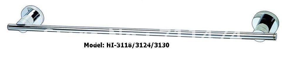 cheap 60cm round stainless steel chrome single towel bar,towel rail,towel rack(China (Mainland))