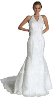 Free Shipping Mermaid / Trumpet Halter Lace Wedding Dresses #04432