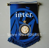 Mixed-order good polyester 43*33CM  Inter Milan soccer flag,banners,fans flag,football flag,pennants,100ps