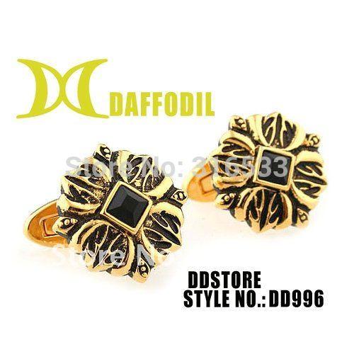 Metal cuff links Fashion cufflink Mens cufflink Daffodil wholesale french cuff button novelty cuff link elegant cufflinks DD996(China (Mainland))