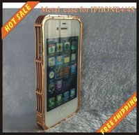 Free shipping -steel cover case fashion modelling for iphone 4G /4S
