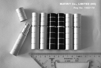 Free Shipping, Wholsale Black/Silver 5ml Aluminium Anodized Compact Perfume Atomiser
