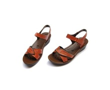free  shipping,2012.Head layer leather sandals, 100% genuine leather, Nurse's shoes, leisure shoes, wedges   xcb   759(China (Mainland))