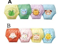 Training Pants 4 Layer Training Pant Learning Pants / Washable Baby Cotton Underwears 12pcs/lot free shipping