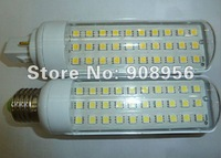 2012 New hot Pure/ warm white Spotlight SMD 5050 30LEDs 600LM E27/ E14/ G24 AC85~220V 6W LED 5050 SMD light 10pcs free shipping