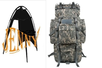 NEW ARRIVELL+ROGISI BN-011 Quality Guarantee outdoor  camouflage Backpacks hiking backpack 65L (Black Brown Jungle Camo )