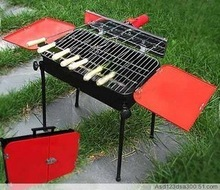 2012 Automatic turning electric girll, portable charcoal bbq grill/ outdoor barbeque grill/ 8-10 person BBQ, free shipping(China (Mainland))