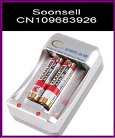 Hot selling Ni-MH/Ni-Cd AA/AAA Rechargeable Battery Intelligent Charger, Free Shipping,DropShipping