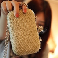 free shipping High-quality Skull Evening Bags fashion clutch design black Beige option lady evening bag wholesale&retail 1pcs