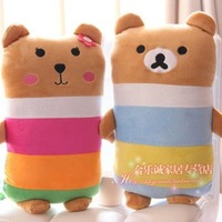 42cm Rainbow bear easily easily Xiong Gongzi Rainbow bear plush toy pillow  1PCS