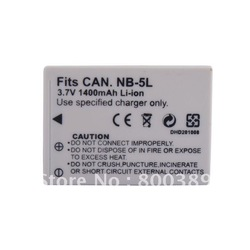 New 3.7V 1400mAh NB-5L NB5L Rechargeable Battery for Canon SD850 SD800 SD900 Camera Camcorder Free Shipping(China (Mainland))