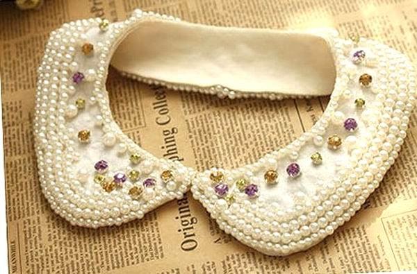 Wholesale False Collar Shirt Collar jewelry imitation diamond pearls collar necklace Free Shipping