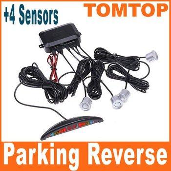 Car Reversing Car parking sensors LED Display Parking Reverse Backup Radar w/4 Sensors Car Parking System K371S Free Shipping