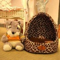 The pet supplies, leopard grain yurt dog house, be able to bear or endure dirty not glue the hair, chihuahua nest chun xia