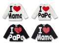 20pcs Baby T-shirt top clothes i love mama papa shirts tops children clothing wears out wear T-shirt