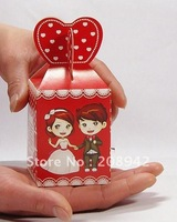 Best selling! EMS Free shipping! 100pcs/lot chocolate box ,wedding candy box . Retail/wholesale
