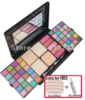 New arrival! Makeup palette disk/Fashion colors Makeup kit/eyeshadow/puff cakes/blusher/lip gloss+3 Free gifts!