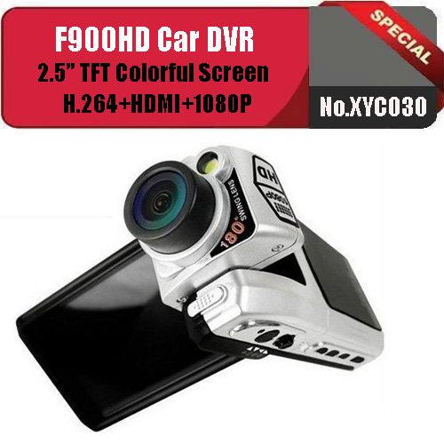 No.XYC030 HOT F900 Car DVR with HD 1080P 2.5'' TFT LCD+HDMI H.264 Recording Format! Free Shipping(China (Mainland))
