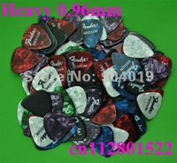Lots of 100 pcs new heavy 0.96mm guitar picks assorted colors Celluloid